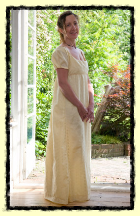 Regency style period dress
