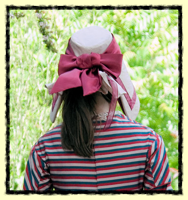 Victorian bonnet as worn by child
